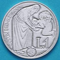 Ватикан 1 лира 1975 год. Лето Господне.