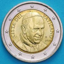 Ватикан 2 евро 2014 год.