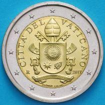 Ватикан 2 евро 2017 год.