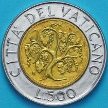 Ватикан 500 лир 1989 год. Виноградная лоза.