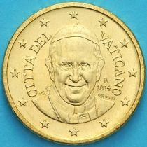 Ватикан 50 евроцентов 2014 года.
