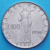 Ватикан 100 лир 1958 год.