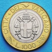 Ватикан 1000 лир 1998 год.