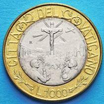Ватикан 1000 лир 1999 год.