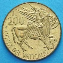 Ватикан 200 лир 1985 год. Крылатый Бык с Евангелие.