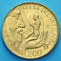 Ватикан 200 лир 1988 год. Создание Адама.