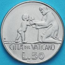 Ватикан 50 лир 1978 год. Ребёнок и взрослый.