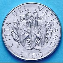Ватикан 100 лир 1989 год. Пеликан.