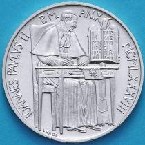 Ватикан 1000 лир 1988 год. Папа Иоанн Павел II. Серебро.