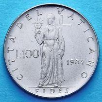 Ватикан 100 лир 1964 год.