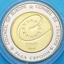 Украина 5 гривен 2009 год. 60 лет Совету Европы.