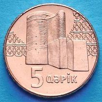 Азербайджан 5 гяпиков 2006 год. Девичья башня.