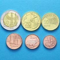 Азербайджан набор 6 монет 2006 год.