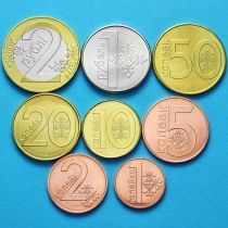 Белоруссия годовой набор 8 монет 2009 год.