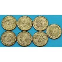 Армения набор 6 монет 2014 год. Дикие деревья Армении