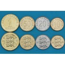 Эстония набор 4 монеты 2000-2008 год.