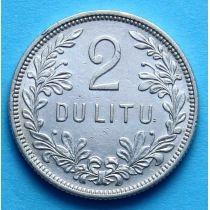 Литва 2 лита 1925 год. Серебро