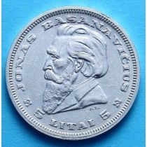 Литва 5 лит 1936 г. Серебро
