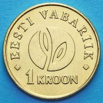 Эстония 1 крона 2008 год. 90 лет Республике.