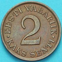Эстония 2 сента 1934 год.