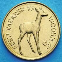 Эстония 5 крон 1993 год. 75 лет Эстонской республики.