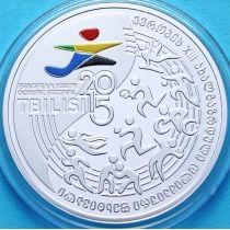 Грузия 10 лари 2015 год. Олимпийский фестиваль. Серебро