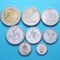 Грузия набор 8 монет 1993-2006 год.