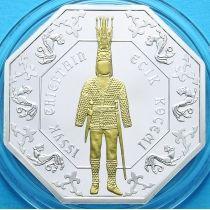 Казахстан 500 тенге 2011 г. Иссыкский золотой человек. Серебро