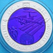 Казахстан 500 тенге 2013 г. МКС. Серебро-тантал