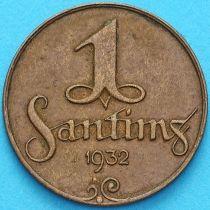 Латвия 1 сантим 1932 год.