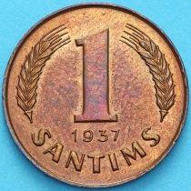 Латвия 1 сантим 1937 год.