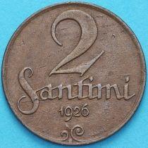 Латвия 2 сантима 1926 год.