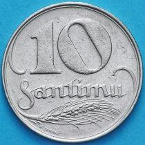 Латвия 10 сантим 1922 год.