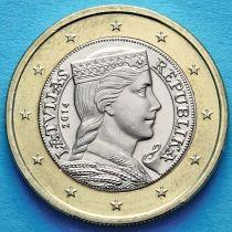 Латвия 1 евро 2014 год.