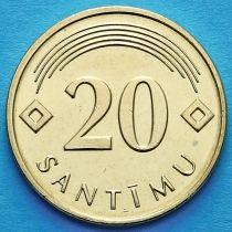 Латвия 20 сантим 2009 год.