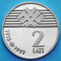 Латвия 2 лата 1993 год. Независимость.