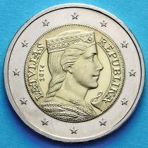 Латвия 2 евро 2014 год.