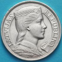 Латвия 5 лат 1929 год. Милда. Серебро.