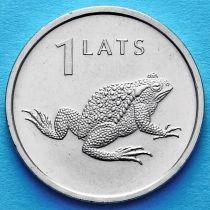 Латвия 1 лат 2010 год. Жаба.