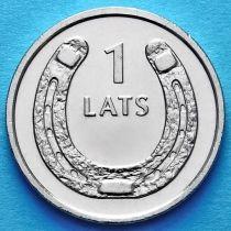 Латвия 1 лат 2010 год. Подкова вверх.