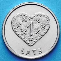 Латвия 1 лат 2011 год. Пряничное сердце.