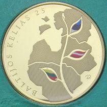 Литва 25 лит 2014 год. Балтийский Путь.