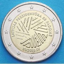 Латвия 2 евро 2015 год. Председательство Латвии в Совете ЕС