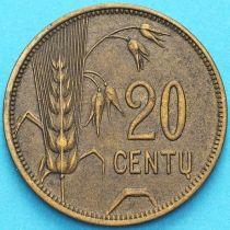 Литва 20 сенти 1925 год.