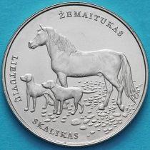Литва 1,5 евро 2017 год. Литовская гончая и Жемайтская лошадь