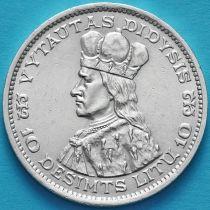 Литва 10 лит 1936 год. Серебро