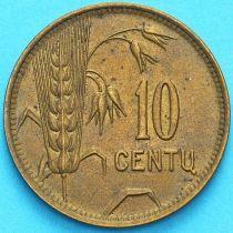 Литва 10 сенти 1925 год.