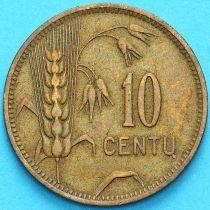 Литва 10 сенти 1925 год. VF