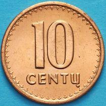 Литва 10 сенти 1991 год.