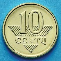 Литва 10 сенти 2009 год.